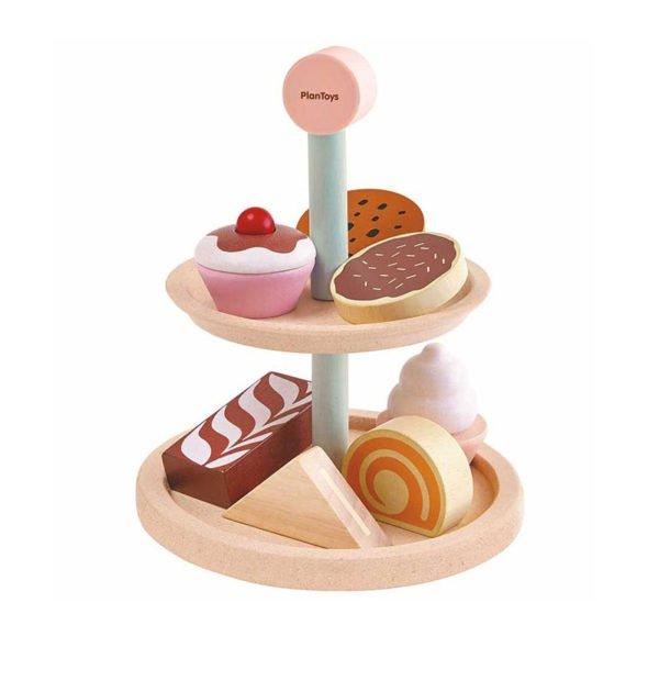 Σετ γλυκισμάτων Plan Toys 3489 - Εκπαιδευτικά-οικολογικά παιχνίδια