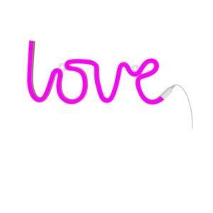 """Φωτιστικό neon """"Love"""" A little lovely company pink LTNE043"""