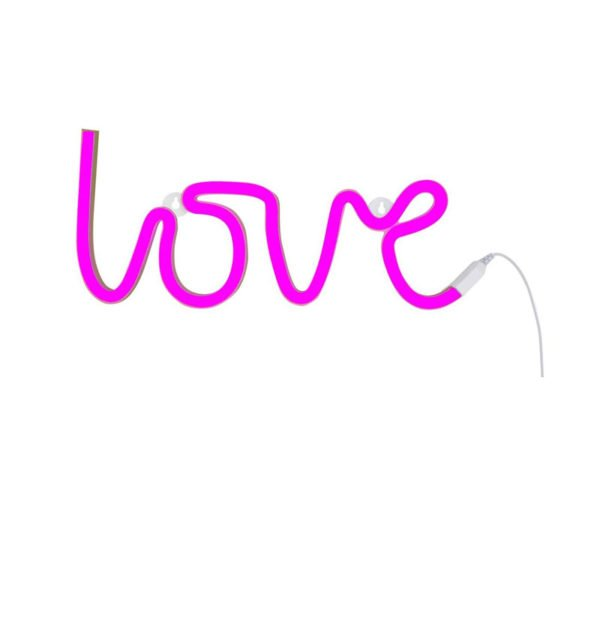 "Φωτιστικό neon ""Love"" A little lovely company pink LTNE043"