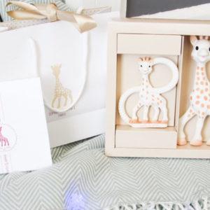 Σόφι η καμηλοπάρδαλη σετ δώρου με την Σόφι & δακτύλιο S000001