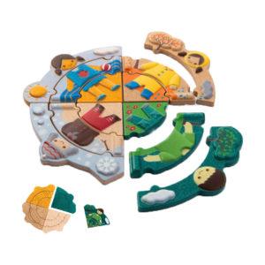 Παζλ με εποχές Plan Toys 5666