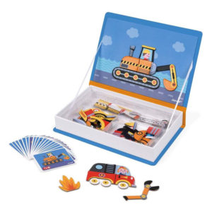Μαγνητικό εκπαιδευτικό βιβλίο παιχνίδι Janod T-JND-J02715 οχήματα