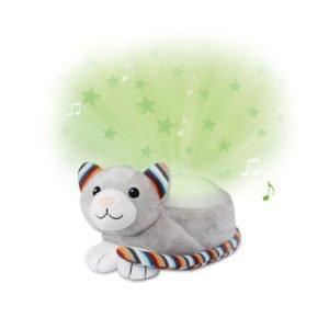 Γάτα Kiki Zazu προβολέας νανουρίσματος με λευκούς ήχους & χτύπο καρδιάς
