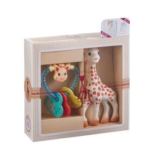 Sophie la girafe Σετ δώρου με την Σόφι & κουδουνίστρα S000008
