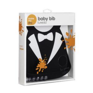 Σαλιάρα σιλικόνης Baby Bib tux 70107 με θήκη και υπέροχο σχέδιο