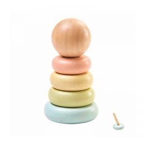 Πυραμίδα κρίκων Plan Toys 5380 , βασιζόμενο στη μέθοδο Montessori