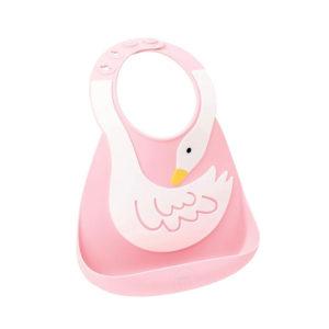 Σαλιάρα σιλικόνης Baby Bib swan