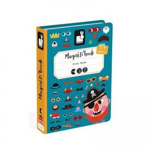 Μαγνητικό βιβλίο Janod αστεία πρόσωπα αγοριών