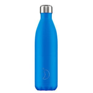 Ισοθερμικό μπουκάλι Chilly's neon blue 500ml