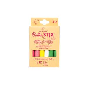 12 χρωματιστές κιμωλίες Jaq Jaq Bird butterstix
