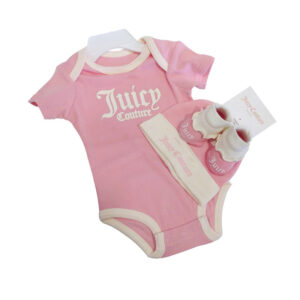 Σετ Juicy Couture με ζιπουνάκι,καλτσάκια & σκουφάκι JBX5304P6