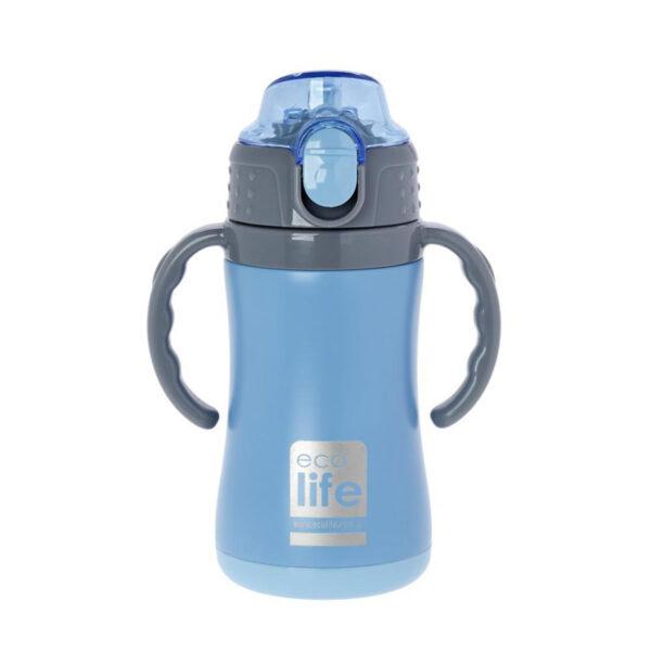 Μεταλλικό ανοξ. θερμός με καλαμάκι 300ml Ecolife 33-BO-3006
