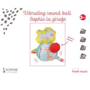 Μαλακή μπαλίτσα με δόνηση/ήχο Sophie la girafe S210208