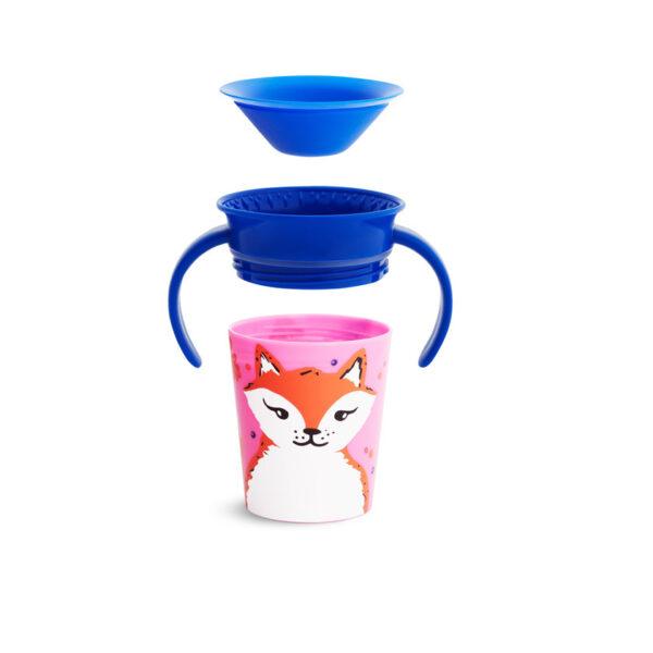 Trainer cup Munchkin 177ml με χερούλι 51774 fox