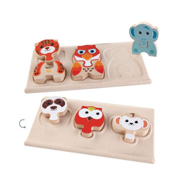 Puzzle με ζωάκια Plan Toys 5611