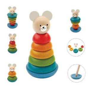 Πυραμίδα κρίκων Plan Toys 5681 ποντικάκι