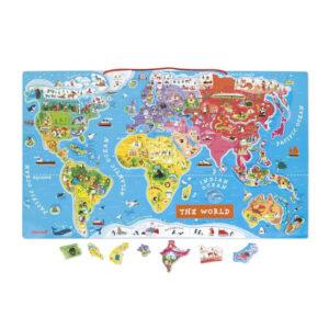 Μαγνητικός χάρτης puzzle Janod T-JND-J05504 για να μάθεις γεωγραφία!