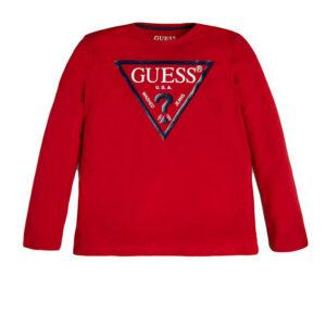 Παιδικη μπλούζα μακό Guess L84I29-K5M20 red για αγόρια και κορίτσια