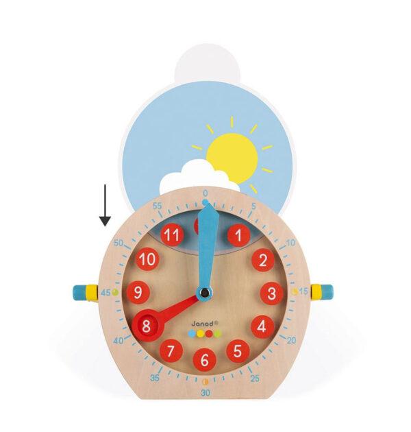 Εκπαιδευτικό ρολόι μαθαίνω την ώρα Janod T-JND-J05076