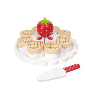 Ξύλινη τούρτα βάφλας με φράουλες Jabadabado JB-T225
