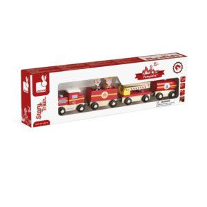 Τρένο με πυροσβέστες Janod T-JND-J08540 για ατέλειωτο παιχνίδι