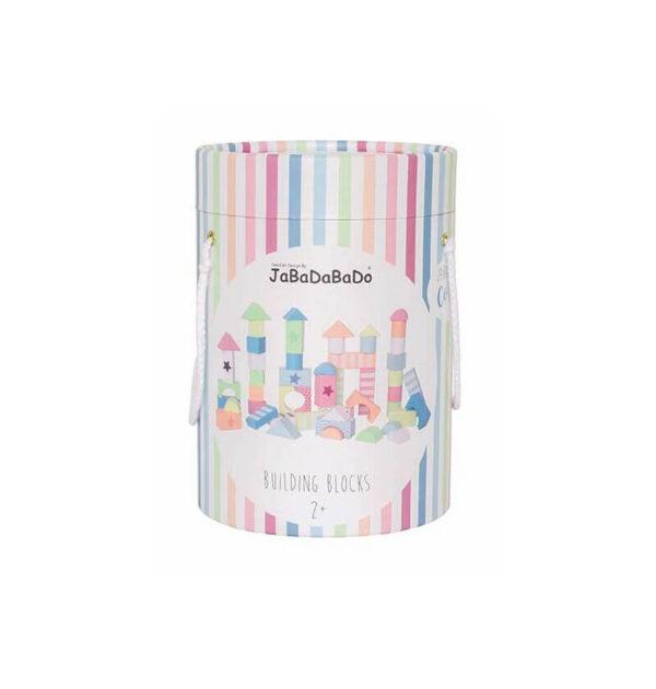 Ξύλινα τουβλάκια κατασκευών Jabadabado πολύχρωμα JB-W7147