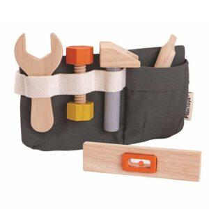 Εργαλειοθήκη μέσης Plan Toys 3485 με 6 ξύλινα εργαλεία