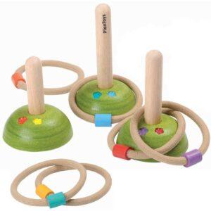 Σετ 6 δακτύλιοι/3 βάσεις Plan Toys 5652...Εξασκήσου με τους δακτυλίους!