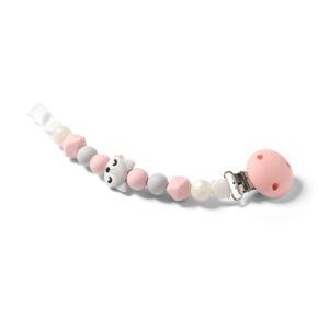 Κλιπ πιπίλας BabyOno με σιλικόνη & κλιπ αστεράκι BN719 ροζ