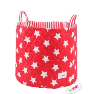 Μεγάλο καλάθι Minene stars κόκκινο MN1241 για παιχνίδια,ρούχα...