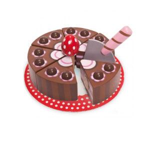 Τούρτα σοκολάτα Le Toy Van tv277 με σπάτουλα και 6 κομμάτια