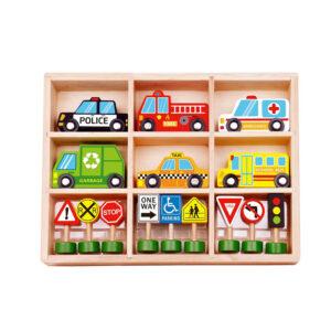 Ξύλινο σετ κυκλοφοριακής αγωγής Tooky Toy Tkf050
