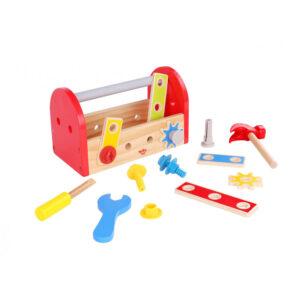 Ξύλινη μικρή εργαλειοθήκη Tooky Toy 3Ε+ Tkc464