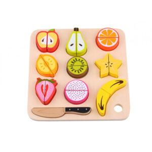 Φρούτα & δίσκος κοπής με σφηνώματα Tooky Toy 2Ε+ TL040