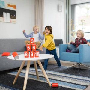 Τενεκεδάκια BS Toys κόκκινα GA093-131-260 και 3 σακουλάκια ρίψης