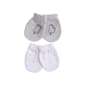 Γάντια για νεογέννητο Minene για να μην κάνουν γρατζουνιές το προσωπάκι
