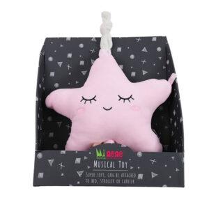Μουσικό αστέρι Minene βελούδινο ροζ 18313008450OS