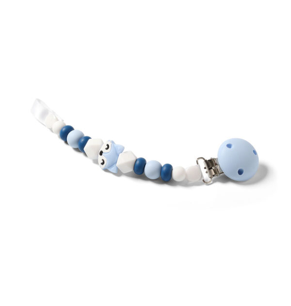 Κλιπ πιπίλας BabyOno με σιλικόνη & κλιπ αστεράκι BN719 μπλε