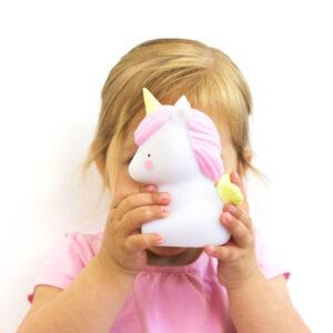 Φωτάκι νυκτός μονόκερος A Little Lovely Company για παιδικό δωμάτιο