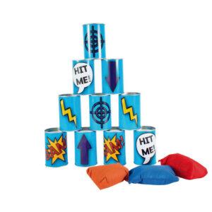 Τενεκεδάκια BS Toys μπλε GA131 και 3 σακουλάκια ρίψης