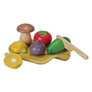 Δίσκος με λαχανικά Plan Toys 3601 18Μ+ για ατελείωτα παιχνίδια μίμησης