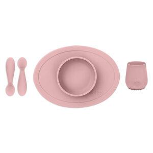 Εκπαιδευτικό σετ φαγητού Ezpz από 100% σιλικόνη ροζ FD-P7424U 4Μ+