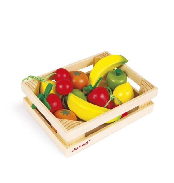 Καφάσι με 12 φρούτα Janod για εσάς που αγαπάτε τα παιχνίδια μίμησης