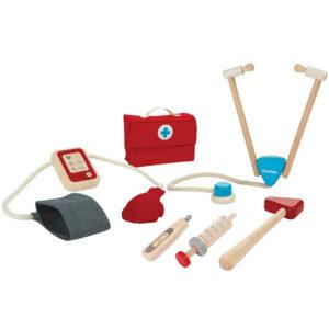 Βαλιτσάκι γιατρού με ιατρικά εργαλεία Plan Toys 3451 3Ε+