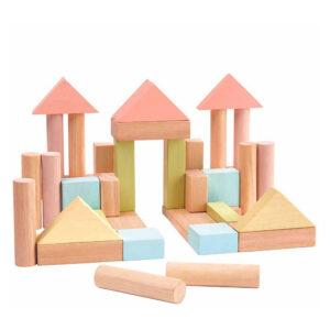 Τουβλάκια παστέλ Plan Toys 5507 2Ε+ βασισμένο στη μέθοδο montessori