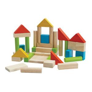 Τουβλάκια χρωματιστά Plan Toys 5513 18Μ+