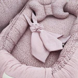 Βρεφική χειροποίητη φωλίτσα Baby Blue euphoria 110x70