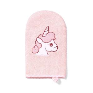 Γάντι πλυσίματος μωρού Babyono ροζ