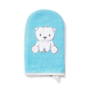 Γάντι πλυσίματος μωρού Babyono γαλάζιο