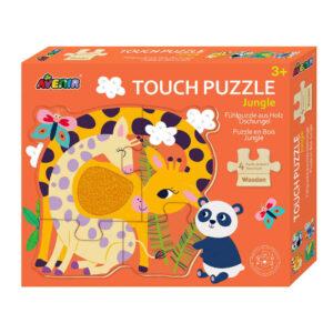 Ξύλινο puzzle Avenir jungle 60609 3E+ με 4 εικόνες με υφές